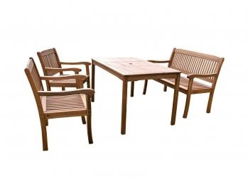 sale gartenm bel set escape mit french 4tlg akazie fsc. Black Bedroom Furniture Sets. Home Design Ideas