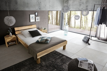 sam massivholzbett 100x200 cm wildeiche holzbett massiv campus auf lager. Black Bedroom Furniture Sets. Home Design Ideas