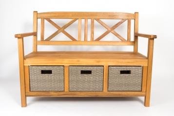 sam gartenbank sitzbank akazie mit 3 k rben 120 cm natur fauna auf lager. Black Bedroom Furniture Sets. Home Design Ideas