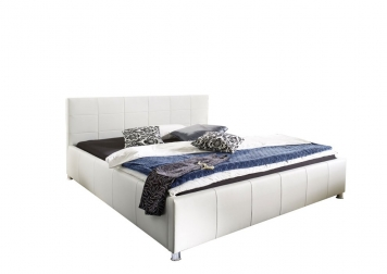 sam b ware 47 polsterbett doppelbett 140 x 200 cm wei. Black Bedroom Furniture Sets. Home Design Ideas