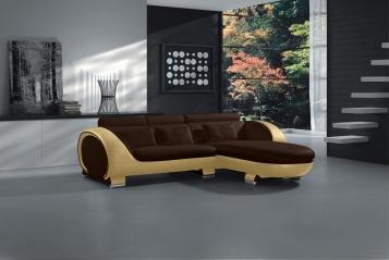 SALE Couch Ecksofa 242 x 181 cm braun creme Polsterecke VIGO Combi 1 Auf Lager !