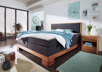 sam boxspringbett doppelbett grau eiche 160 x 200 cm saskia auf lager. Black Bedroom Furniture Sets. Home Design Ideas