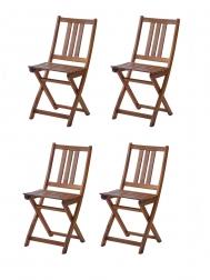 SAM® Balkonstühle Gartenstühle 4er - Set aus Akazienholz FARSO Auf Lager !