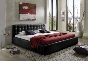 sale polsterbett g nstig 200 x 220 cm bett schwarz vita auf lager. Black Bedroom Furniture Sets. Home Design Ideas