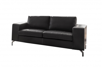 SALE Couch 2-Sitzer Sofa dunkelgrau BELAIR