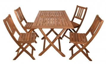 SAM® Balkonmöbel Set 5tlg. Akazienholz Balkontisch 120 x 70 cm CALEA