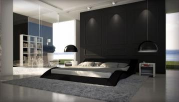 Polsterbett 160 x 200 cm schwarz Santucci