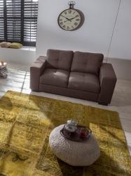 SAM® Polstergarnitur Sofa Stoff braun 2-Sitzer AVIANO