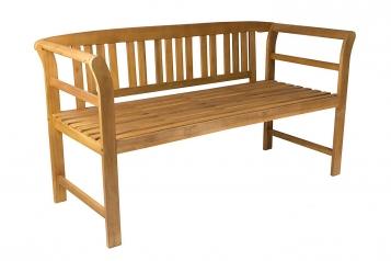 Gartenbank Holzbank Akazie massiv 161x63x82 cm 3-Sitzer ROSA