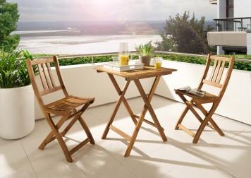 sam balkonset 1 akazie holz 3tlg blossom auf lager. Black Bedroom Furniture Sets. Home Design Ideas