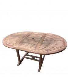 sam a klasse teak gartentisch 120 170 x 75 cm sunshine rund auf lager. Black Bedroom Furniture Sets. Home Design Ideas