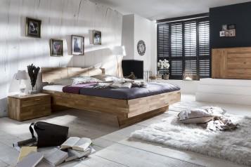 sam massivholzbett 140 x 200 cm wildeiche cielo auf lager. Black Bedroom Furniture Sets. Home Design Ideas
