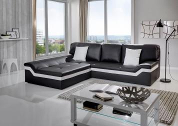 Sam ecksofa schwarz stripe wei sofa mistico 220 x 270 cm - Ecksofa balkon ...