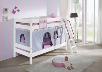 sam kinder etagenbett girl ii wei schr g massiv buche auf lager. Black Bedroom Furniture Sets. Home Design Ideas
