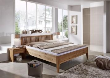 sam massivholzbett 180 x 200 cm wildeiche geteilt fred auf lager. Black Bedroom Furniture Sets. Home Design Ideas
