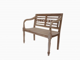 sam teak 2 sitzer gartenbank 100 cm batista auf lager. Black Bedroom Furniture Sets. Home Design Ideas