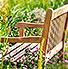 Garten Romantik - Holzbänke zum Verlieben