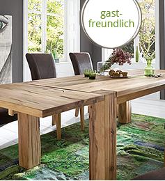 SAM® 7tlg Tischgruppe 200 cm Lord Balkeneiche BRAXTON