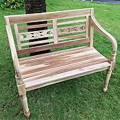 SAM® Teak 2 Sitzer Gartenbank 100 cm Batista