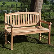 SAM® Teak 2 Sitzer Gartenbank 120 cm Olivera