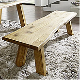 SAM® Tischgruppe 200 Wildeiche geölt mit Sitzbänken BERGEN