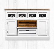 SAM® Sideboard 120 cm weiß lackiertes Paulowniaholz Paris