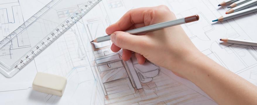 Die kreative Planung des barrierefreien Badezimmers mit Lineal und Buntstift darf nicht zu kurz kommen