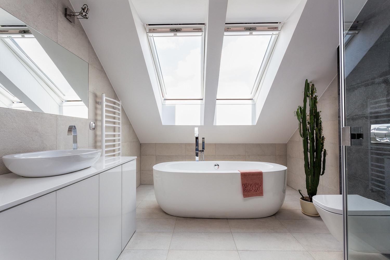 Funvit.com | Weiße Küche | {Badezimmer mit dachfenster 48}