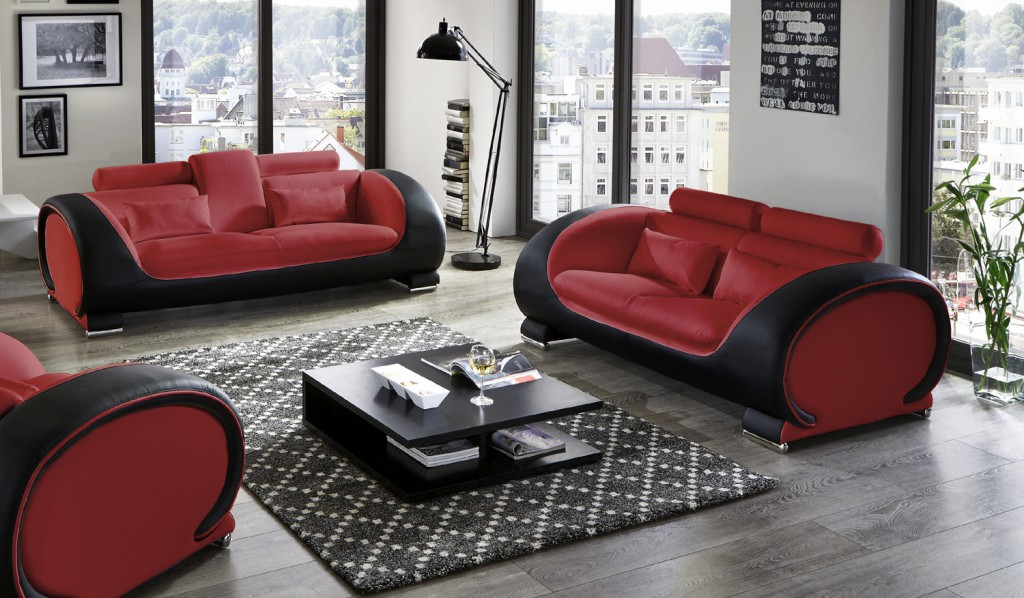 wohnzimmer sofa rot. Black Bedroom Furniture Sets. Home Design Ideas