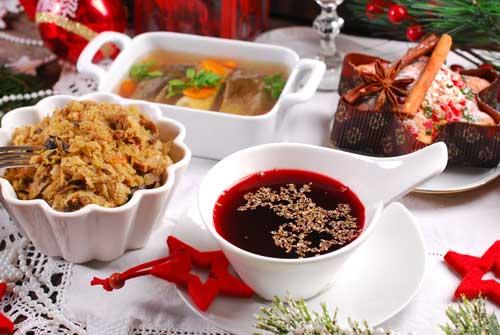 In Polen werden zu Weihnachten viele unterschiedliche Speisen serviert
