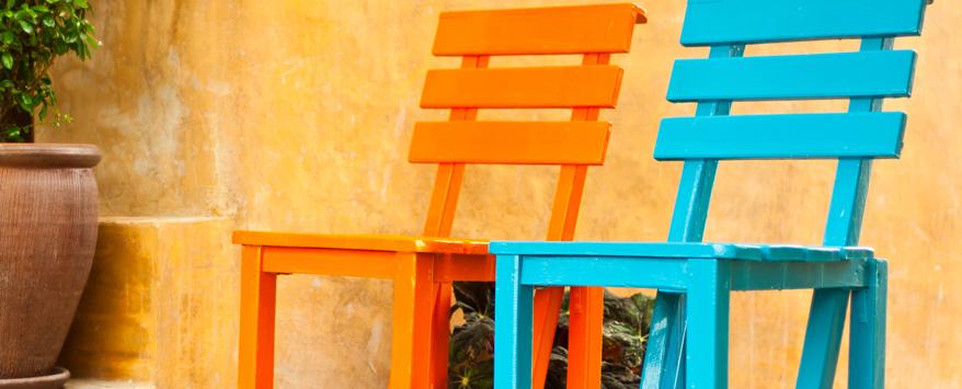 Terrassen Farbe garten und terrasse gestalten mit farbe bitte zuhause bei sam