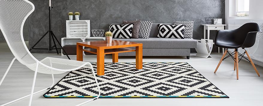Skandinavischer Wohnstil Dekoration : Teppich skandinavisches design filzkugeln f r