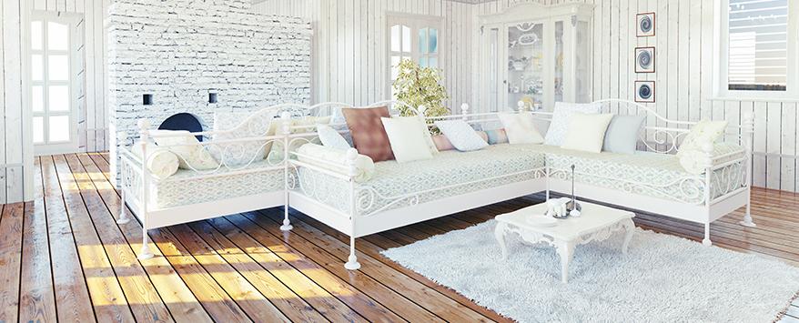 Weiß Und Pastelltöne Sowie Laminat Oder Parkett Sind Typisch Für Den  Landhausstil